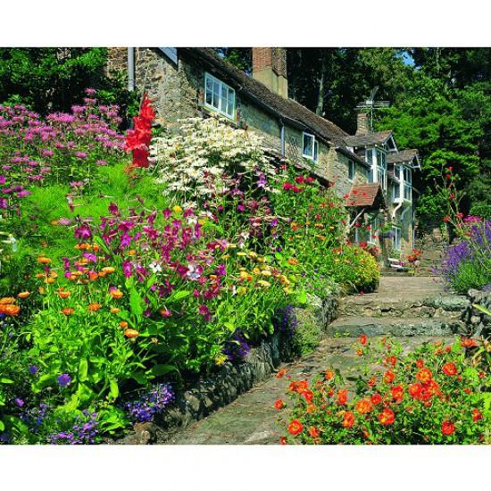 Puzzle 500 pi ces classic deluxe le jardin du cottage for Jardin deluxe fleurs