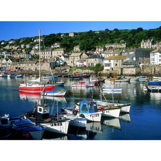 Puzzle 500 pièces - Classic Deluxe : Mousehole, Cornwall - Hamilton-4014