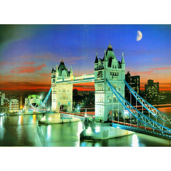 Puzzle 500 pièces - Classic Deluxe : Tower Bridge by night - Hamilton-4011