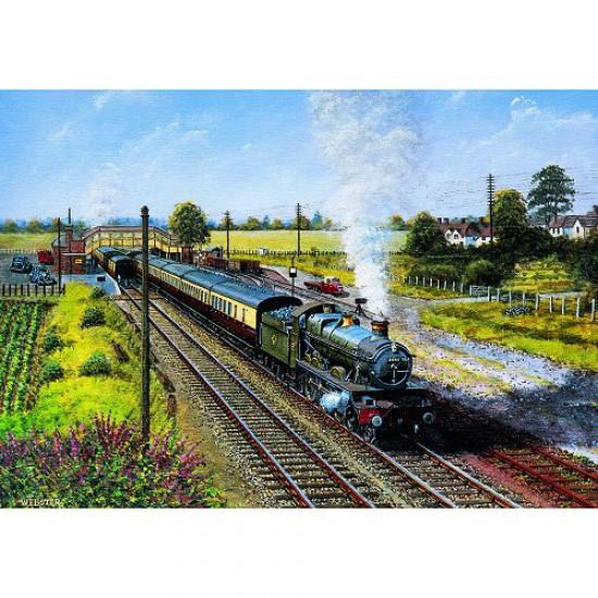 Puzzle 500 pièces - Classic Deluxe : Voyage en train - Hamilton-4021