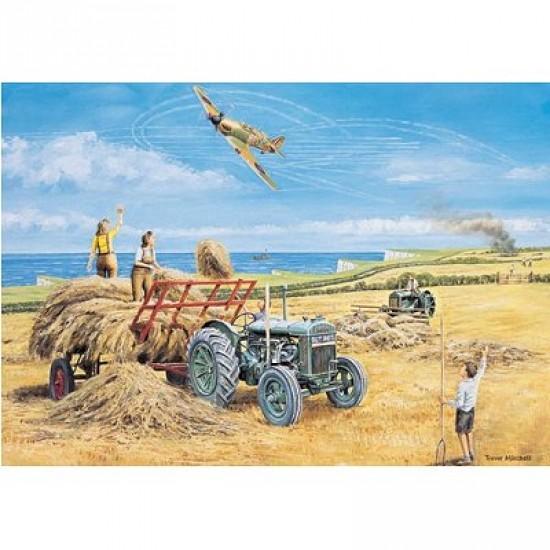 Puzzle 500 pièces - Les héros méconnus : Le ramassage du foin 1940 - Hamilton-408-4