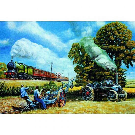 Puzzle 500 pièces - Les jours heureux : L'époque de la vapeur - Hamilton-403-2