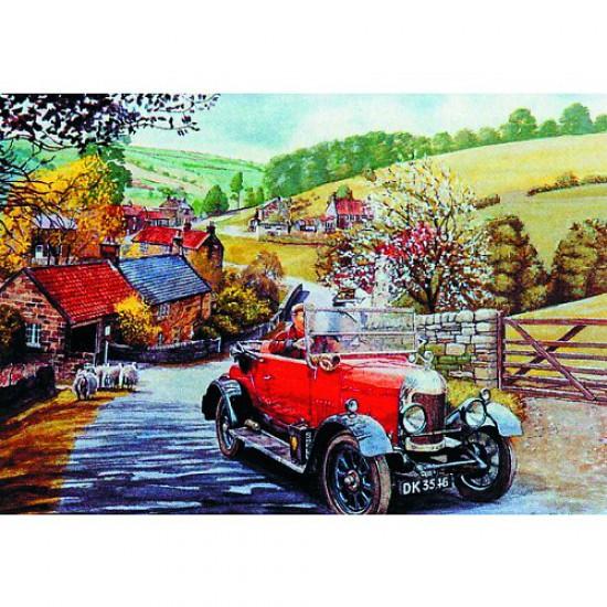 Puzzle 500 pièces - Les jours heureux : Promenade dans la campagne - Hamilton-403-1