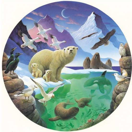 Puzzle 500 pièces rond - Découverte arctique - Hamilton-AD2/0513