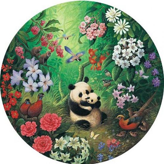 Puzzle 500 pièces rond - Famille panda - Hamilton-JP1/5003