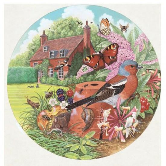 Puzzle 500 pièces rond - Le jardin du cottage - Hamilton-CG1/5005