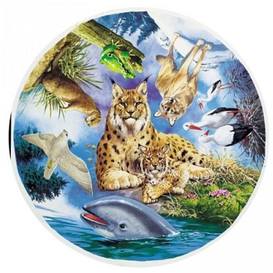 Puzzle 500 pièces rond - Les animaux nordiques - Hamilton-EN1/0518