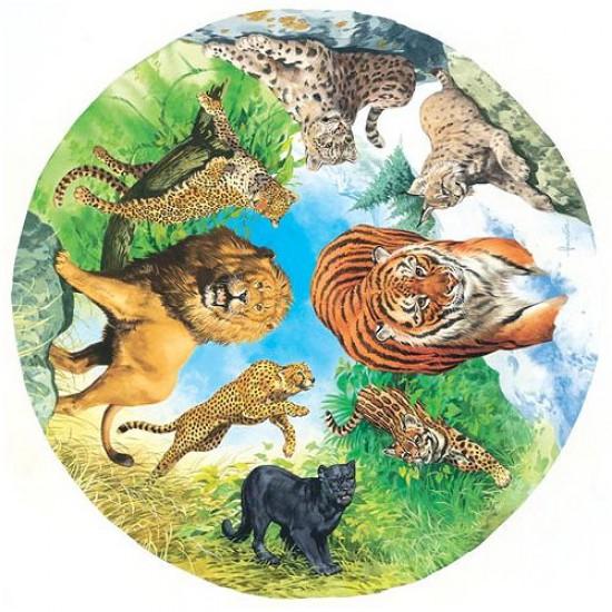 Puzzle 500 pièces rond - Les chats sauvages - Hamilton-WC1/0512