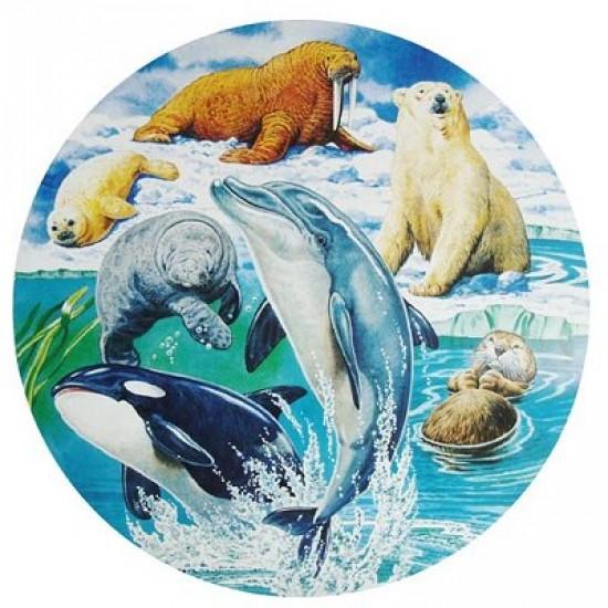 Puzzle 500 pièces rond - Les mammifères marins - Hamilton-MM1/5011