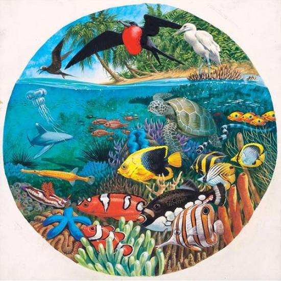 Puzzle 500 pièces rond - Mer de corail - Hamilton-CS2/0517