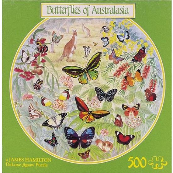 Puzzle 500 pièces rond - Papillons d'Australie - Hamilton-BA2/0509