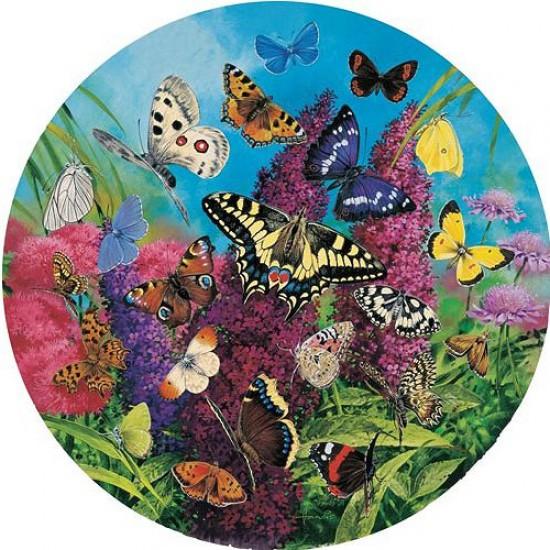 Puzzle 500 pièces rond - Papillons d'Europe - Hamilton-BE1/5008