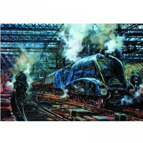 Puzzle 500 pièces - Train à vapeur : The Flying Scotsman - Hamilton-405-3