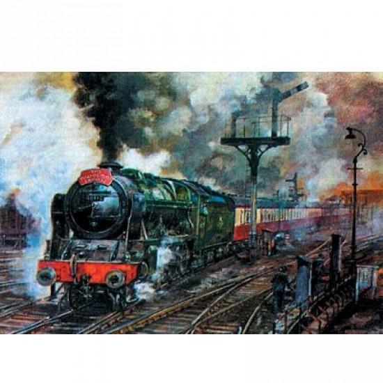 Puzzle 500 pièces - Train à vapeur : The Thames-Clyde Express - Hamilton-405-4