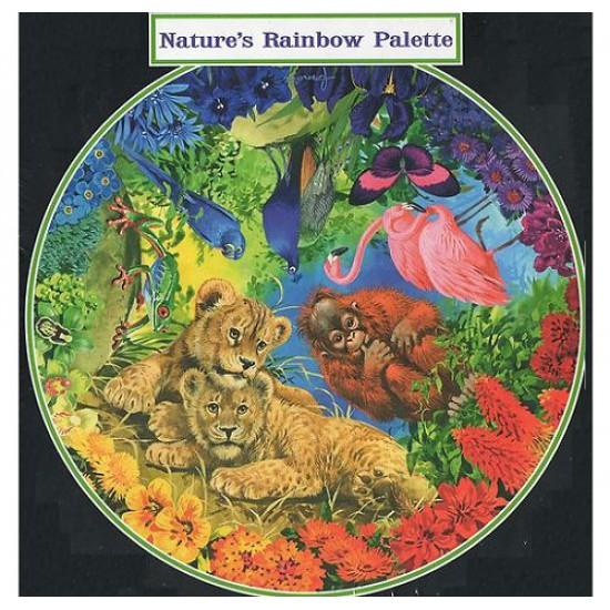Puzzle 500 pièces rond - Palette de couleurs de la nature - Hamilton-NR1/5016