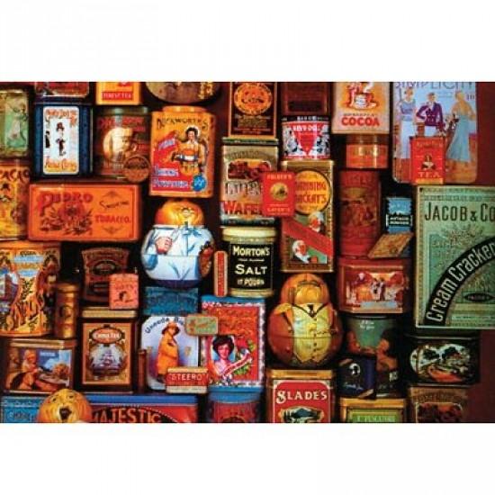 Puzzle 750 pièces - Souvenirs boîtes en métal - Hamilton-605-3