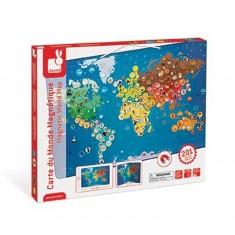 Carte du monde magnétique : Animaux