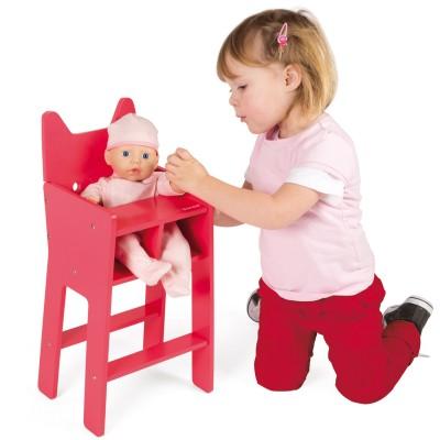 chaise haute pour poup e 36 cm babycat jeux et jouets janod avenue des jeux. Black Bedroom Furniture Sets. Home Design Ideas