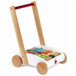 Chariot de marche Mini Buggy + cubes de construction