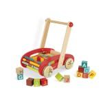 Chariot de marche avec 30 cubes ABC Buggy