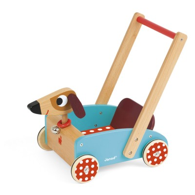 chariot de marche crazy doggy jeux et jouets janod avenue des jeux. Black Bedroom Furniture Sets. Home Design Ideas