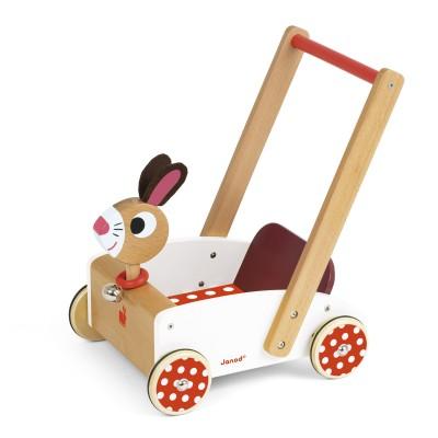 chariot de marche crazy rabbit jeux et jouets janod. Black Bedroom Furniture Sets. Home Design Ideas