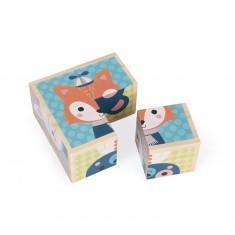 Cubes en bois : Mes Premiers Cubes : Portraits de la forêt