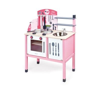 cuisini re en bois la maxi cuisine mademoiselle jeux et jouets janod avenue des jeux. Black Bedroom Furniture Sets. Home Design Ideas