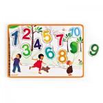Encastrement 10 pièces en bois : Puzzle 123 Ballons