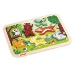 Encastrement 6 pièces en bois : Chunky Puzzle Forêt