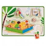 Encastrement 8 pièces en bois : Puzzle après-midi au parc