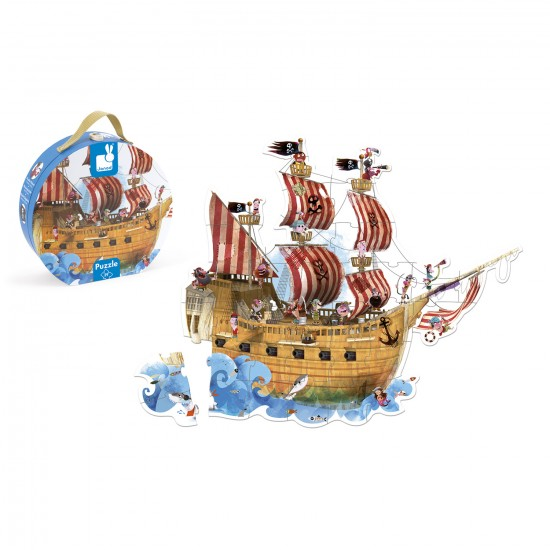 Floor Puzzle - 39 pièces : Le bateau de Pirates - Janod-J02819