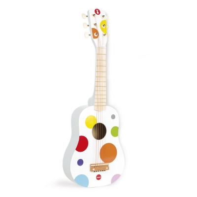 guitare en bois confetti janod avenue des jeux. Black Bedroom Furniture Sets. Home Design Ideas