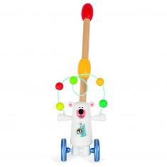 Jouet à pousser : Ours jongleur Zigolo