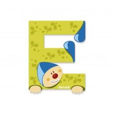 Lettre décorative clown en bois : E