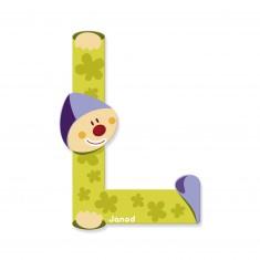 Lettre décorative clown en bois : L