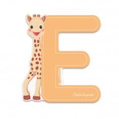 Lettre décorative Sophie la Girafe : E (orange)
