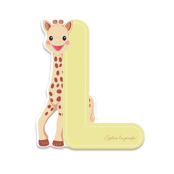 Lettre décorative Sophie la Girafe : L (beige) - Janod-J09556-Vert