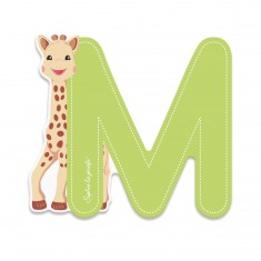Lettre décorative Sophie la Girafe : M (vert)