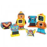 Magnets en bois Funny : Magnet Robots