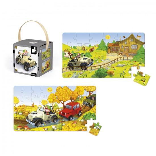 Puzzle 24 et 36 pièces : Lovely puzzle Le 4x4 de Jack - Janod-J02765