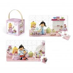 Puzzle 24 et 36 pièces : Lovely puzzle Rose joue à la princesse