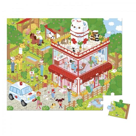 Puzzle 36 pièces : Clinique des animaux - Janod-J02776
