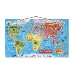 Puzzle 92 pièces magnétique Le monde