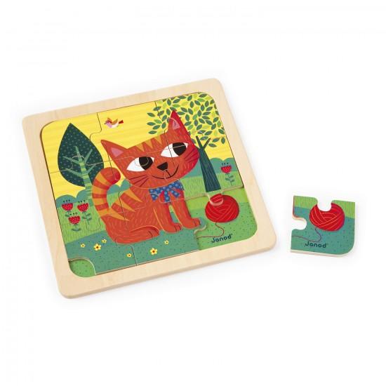 Puzzle en bois : Chat Félix - 9 pièces - Janod-J07067