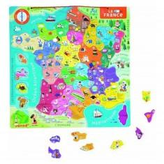 Puzzle France magnétique 94 pièces