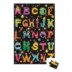 Puzzle géant 50 pièces : Floor ABC Monsters