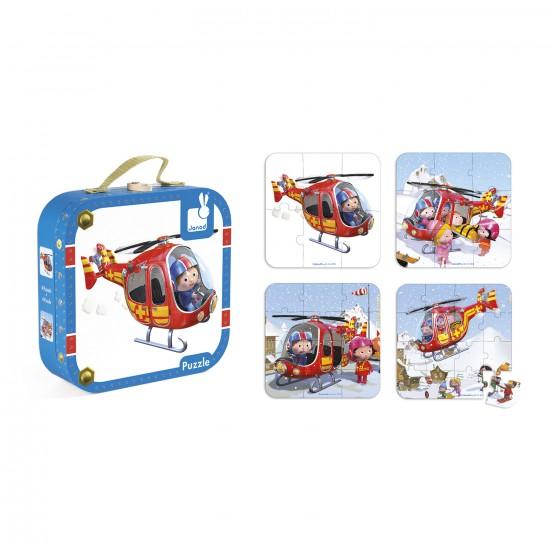 Puzzles : L'hélicoptère de Pierre - Janod-J02870