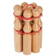 Quilles en bois 24 cm : Set de 7 quilles
