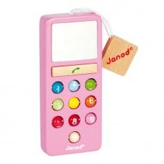 Téléphone en bois Mobilo Sonore I Wood : Rose